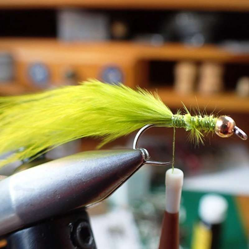 4. Step 4 Trim Off Waste Marabou And Secure With Thread